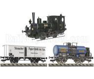 модель Fleischmann 481212 Грузовой поезд: паровоз CLOTHO, bay. D IV и два вагона. Принадлежность K.Bay.Sts.E.