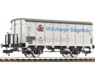модель Fleischmann 534601 Вагон для перевозки пива Wurzburger Burgerbrau с тормозной будкой. Принадлежность DB