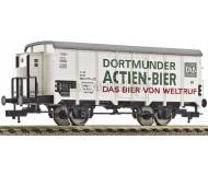 модель Fleischmann 534602 Вагон для перевозки пива DAB с тормозной будкой. Принадлежность DB