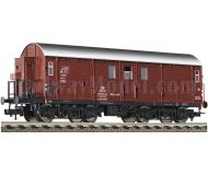 модель Fleischmann 539501 Вагон для перевозки лошадей с тормозной будкой, тип Hakrs-v346. Принадлежность DB