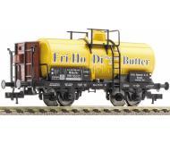 модель Fleischmann 543705 Цистерна Fri-Ho-Di Margarine statt Butter с тормозной будкой. Принадлежность DRG