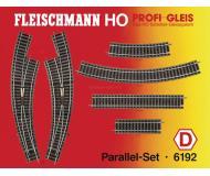 модель Fleischmann 6192 Набор рельсового материала. 6101- 13шт, 6103- 1шт, 6125-6шт, 6127- 2шт, 6142- 1шт.