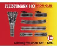 модель Fleischmann 6193 Набор рельсового материала. 6101- 10шт, 6114- 2шт, 6116-2шт, 6138- 2шт, 6157- 1шт.