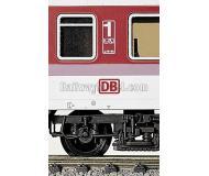 модель Fleischmann 6553 DB-логотипы в новейшем исполнении для различных пассажирских вагонов, (7)4438/39, а также отдельных локомотивов.