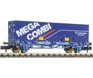 модель Fleischmann 824213 Платформа с контейнером MEGA COMBI для TRANSFESA. Принадлежность RENFE