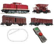 модель Fleischmann 931405 Цифровой стартовый набор: тепловоз BR 115 с декодером DCC, три грузовых вагона, multiMAUS, уселитель, блок питания, набор рельсового материала. Принадлежность DR