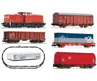 модель Fleischmann 931484 Цифровой стартовый набор: тепловоз BR 204 с декодером DCC, четыре грузовых вагона, цифровая станция Z21 с роутером, набор рельсового материала. Принадлежность DB AG