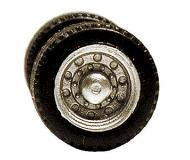 модель Herpa 005338 Wheels & Tires -- For 2-Axle Low Profile Trailers. Упаковка 6 шт.
