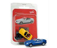 модель Herpa 012188-002 MB SLK Roadster (синий). Набор для самостоятельной сборки.