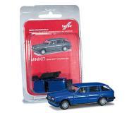 модель Herpa 012737 BMW 3-й серии E30. Серия MiniKit - модель для легкой и быстрой сборки, без использования клея. Цвет синий.