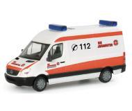 модель Herpa 047234 European Emergency -- 2006 Mercedes Benz Sprinter Скорая помощь Berlin