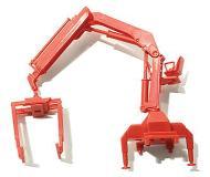 модель Herpa 051507 Truck Accessories -- Hiab Hydraulic, Telescoping Crane w/Pallet Fork