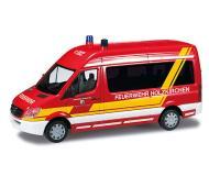 модель Herpa 090889 2006 Mercedes-Benz Sprinter  с высокой крышей. Собран. Пожарная служба