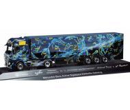 модель Herpa 121408 Mercedes Actros Gigaspace Semi w/Reefer Trailer. Собран,  Herpa #13 - Schumacher