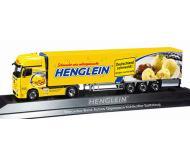 модель Herpa 121422 Mercedes Actros Gigaspace Semi w/Reefer Trailer. Собран,  Henglein