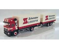 модель Herpa 184427 MAN F2000 с прицепом «Schomaker Logistik»