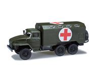 модель Herpa 744287 Урал koffer Красный крест