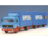 модель Herpa 811166 Автомобиль Mercedes-Ben 1628 HZ JU PL с прицепом «Weigl»