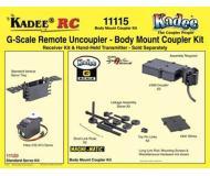 модель Kadee 11115 Комплект сцепок  с размещением на корпусе вагона (для одного вагона), для использования в системе дистанционного управления сцепками Kadee.