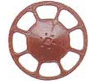 модель Kadee 2035 Современное колесо ручного тормоза, упаковка 8 шт. Цвет красный оксид.