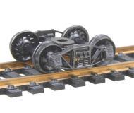 модель Kadee 501 Полностью подрессоренные металлические тележки Arch Bar. Установлены колесные пары 33 дюйма, тип RP-25, код 110 (ширина обода 2,8 мм), с ребристой внутренней стороной. 1 пара