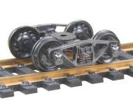 модель Kadee 515 Полностью подрессоренные металлические тележки Vulcan Double Truss. Установлены колесные пары 33 дюйма, тип RP-25, код 110 (ширина обода 2,8 мм), с ребристой внутренней стороной. 1 пара