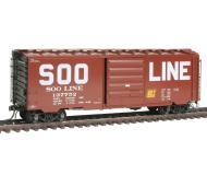 модель Kadee 5314 Полностью собранный 40' товарный вагон тип PS-1 с 8' дверью. Принадлежность SOO Line #137752 (схема окраски 1959г.)