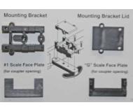 модель Kadee 884 Conversion Packet, для Mounting #820 or 830 On Aristo-Craft GE U25B Locos, Less Couplers