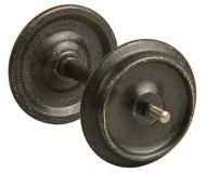 модель Kadee 960 Smooth-Back Metal Wheelsets -- соответствуют диаметру 33 дюйма, колёс для масштаба 1:29 или 36 дюймов для масштаба 1:32 (масштаб 1) (цвет чёрный)