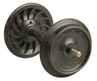 модель Kadee 961 Ribbed-Back Metal Wheelsets -- соответствуют диаметру 33 дюйма, колёс для масштаба 1:29 или 36 дюймов для масштаба 1:32 (масштаб 1) (цвет чёрный)