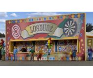 модель Kibri 11012 Fun Fair Casino Trailer w/LED Lights - Kit -- Circus (white, gold)