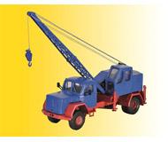 модель Kibri 11290 Magirus Corner Hood Crane Truck w/Fuchs Crane - Kit -- Blue, Red