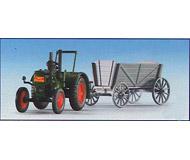 модель Kibri 12235 LANZ трактор-бульдог с прицепом для сена