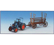 модель Kibri 12236 Трактор LANZ с прицепом для сена.