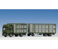 модель Kibri 12248 Tractor/Trailer - Animal Transporter & Trailer -- w/12 Cows
