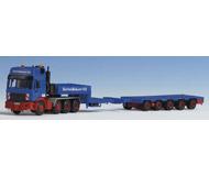 модель Kibri 13554 Тягач MAN  с полуприцепом для перевозки тяжелых грузов