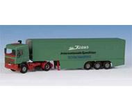 модель Kibri 14645 DAF Semi w/box trailer
