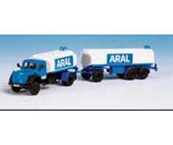 модель Kibri 14663 Автомобиль Magirus Deutz танкер ARAL с прицепом.