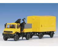 модель Kibri 14982 Unimog w/Works Trailer