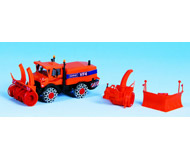 модель Kibri 15011 Автомобиль Unimog с приспособлениями для уборки снега.