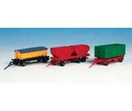 модель Kibri 15706 Набор из трёх прицепов с мусорными контейнерами.