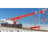 модель Kibri 16002 Телескопический кран на железнодорожном ходу GOTTWALD
