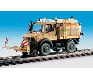 модель Kibri 16303 Автомобиль на ж/д ходу UNIMOG для обработки пути.