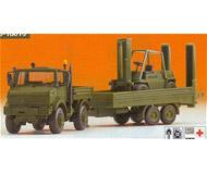 модель Kibri 18016 Unimog w/trlr/frk lft BW