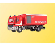 модель Kibri 18256 Mercedes-Benz Actros AC Charger w/Roll-Off Respiratory Container - Kit -- Fire Department