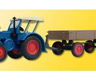 модель Kibri 22232 Farm Machinery -- Lanz Bulldog Tractor w/Wagon on Rubbr Tires