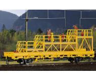 модель Kibri 26262 Robel Railway Maintenance Vehicle w/Work Platform - Ready to Run -- Yellow, Black