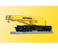 модель Kibri 29600 Maintenance/Work Train Equipment - Heavy Cranes Assembled, Nonpowered -- Gottwald GS100.06T