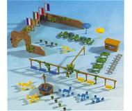модель Kibri 36694 Fountain & Park Accessories Set (Benches, Tables, Wall)