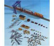модель Kibri 36696 Freight Yard Accessory Set -- Kit - Crane, Shed & Details